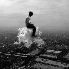 Assis sur un nuage...