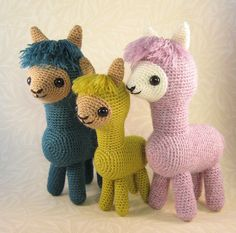 Ravelry: Alpaca Family Amigurumi pattern by Lucy Ravenscar £3.00 GBP about $4.69