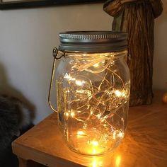 8 Rose Gold Wire Mason Jar centerpieces wedding Mason Jar   Etsy Diy Mason Jar Lights, Mason Jar Lighting, Mason Jar Diy, Mason Jar Lamp, Jar Centerpiece Wedding, Mason Jar Centerpieces, Gold Wire, Jaba, Light Table