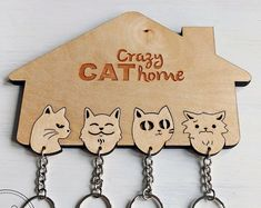 Laser Cutter Projects, Cnc Projects, Projects To Try, Cat Crafts, Diy Arts And Crafts, Wood Crafts, Crazy Cat Lady, Crazy Cats, 3d Laser Printer