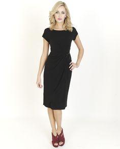 Black Dresses - Embellished Jersey Black Dress - http://www.blackdresses.co.uk