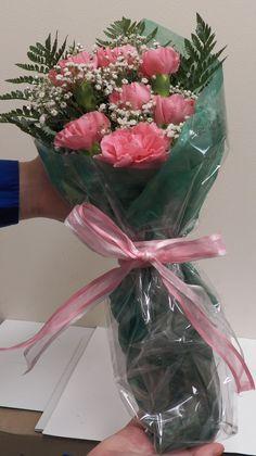 pink carnation wrap
