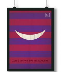 Pôster/Quadro minimalista Alice no País das Maravilhas