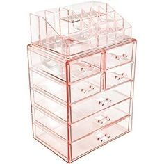 Sorbus Acrylic Cosmetic Makeup and Jewelry Storage Case Display, Clear
