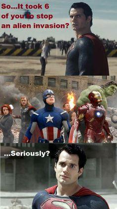 hahaha supermans the best