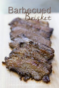 Barbecued Brisket  I have always wanted to make this, but so time consuming. Looks yummy though!