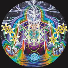 flower of life mandala from the incredible Morgan Mandala & Ashely Foreman