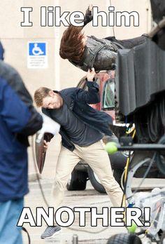I like him. ANOTHER! || Steve Rogers, Bucky Barnes || Captain America TWS || #bts, #meme
