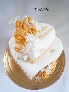 Heart Shaped Wedding Cakes, Barbie Birthday Cake, Simple Cake Designs, Happy Birthday Cake Images, Heart Cakes, Amazing Wedding Cakes, Disney Cakes, Cake Decorating Tips, Occasion Cakes