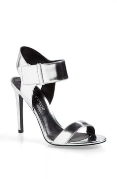 Silver Metallic Leather Sandal. Yes, please!