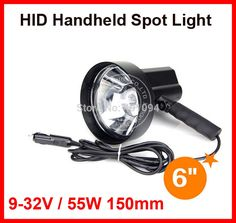 """64.50$  Watch here - http://ali8i2.worldwells.pw/go.php?t=32258889899 - """"6"""""""" 150mm 55W HID Xenon Portable Driving Search Handheld Spotlight Hunting Fishing Hiking Camping Lamp 4300lm H3 A/C 6000K 9-32V"""""""
