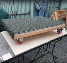 a platform moving dolly with locking casters a how to build Diy Furniture Dolly, Moving Furniture, How To Clean Furniture, Diy Furniture Plans, Cheap Furniture, Furniture Cleaning, Painting Furniture, Wood Furniture, Diy Garage Storage Cabinets