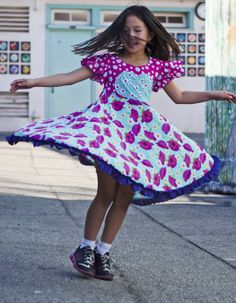 Kids clothes dresses... TwirlyGirl has fun and creative styles.  Comfy, twirly, and Made in USA!