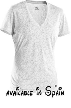 B00412BQXI : Las mujeres de la UA Victoria Burnout T Tops By under armour Blanco/Negro.