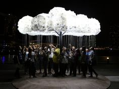 Illuminated, interactive clouds and giant lampshades attract attention at Lux Helsinki via Frameweb.com