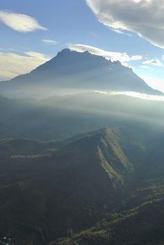 Mount Kinabalu, Sabah on the island of Borneo in Southeast Asia. Borneo Travel, Malaysia Travel, Asia Travel, Mount Kinabalu, Kota Kinabalu, Places To Travel, Places To See, Southeast Asia, Wonders Of The World