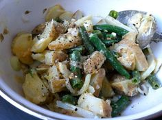 Recipe and photo by Emma Frisch Prep Time: 10 minutes Cook Time: Varies on method for cooking potatoes Yield: servings You can substitute the miso in this recipe for a soy-free version like this one from Great Eastern Sun. Green Bean Salads, Green Bean Recipes, Easy Healthy Recipes, Quick Easy Meals, Simple Meals, Lemon Green Beans, Miso Dressing, How To Cook Potatoes, Spring Recipes