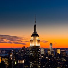 Empire State Building and New York Sunset…been there done that…but would go again anyway! (: