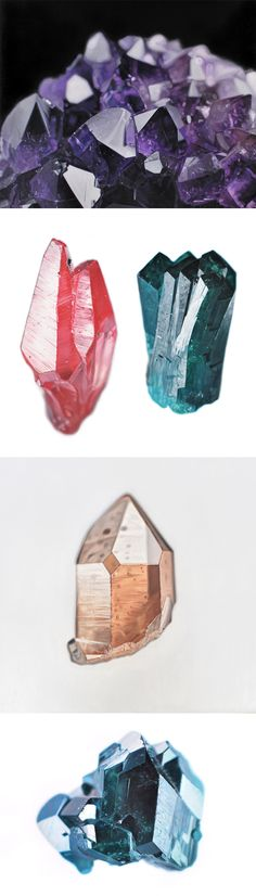 Glistening Oil Paintings of Minerals and Crystals by Carly Waito