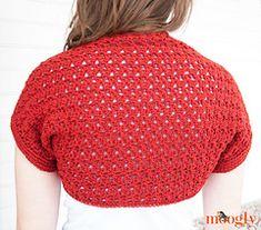 Easy Crochet Shrug, Crochet Shrug Pattern, Crochet Jacket, Crochet Scarves, Crochet Clothes, Free Crochet, Knit Crochet, Crochet Shrugs, Crochet Tops