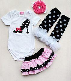 Newborn Infant Baby Girl Headband Romper Leg Warmer Skirt Pants Outfit Clothes | eBay