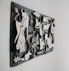 Project was to reconstruct the guernica with a new medium .Paper sculpture was the medium I choose to depict the great painting by Pablo Picasso .It was done by him to make the world aware of the bombing of guernica, a Basque country in northern part of s…