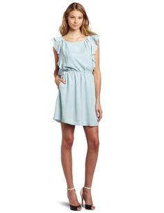Amazon.com: BCBGeneration Women's Ruffle Sleeve Dress: Clothing
