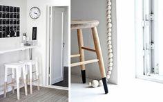 Patas en dos colores para una decoración low cost  |  DECOFILIA.com