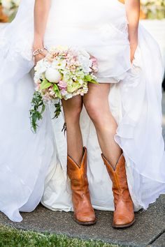 Mint + Yellow Backyard Wedding - Style Me Pretty Wedding Boots, Wedding Pics, On Your Wedding Day, Dream Wedding, Wedding Photography Inspiration, Wedding Inspiration, Photography Ideas, Floral Event Design, Little Black Books