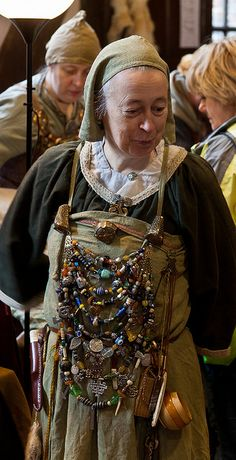And they say I'm over the top on my bling! This gal is my hero!!! (Lyda)  Jorvik Viking Festival 2012 by alh1, via Flickr