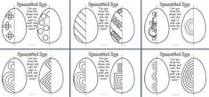 Free - Symmetrical eggs - students try to draw the same design on each egg