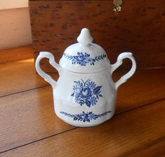 Dresden Blue Sugar Bowl J & G Meakin Ironstone Made In England