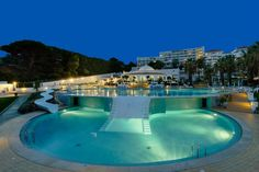 The most beautiful pool is at Oura View Beach Club.