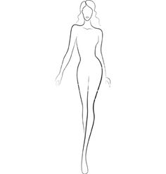 fashion model outline templates sketches pinterest outlines