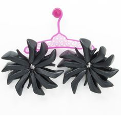 Licorice Doll Shoe Earrings© by Sara Gallo now featured on Fab.