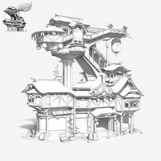 ArtStation - building, pang p