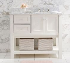 "Classic 42"" Asymmetric Single Sink Vanity 