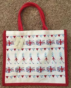 cd80eecd6a Waitrose British Summer Jute Bag Bunting Queen Birthday Guards UK England  Flag