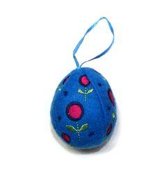 Blue Felt Egg from Joanna Wood Shop | www.joannawood.co.uk #easteregg #easter #decoration