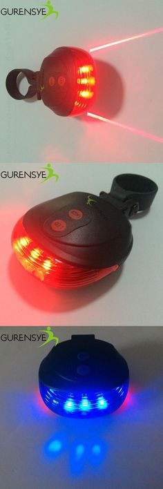 [Visit to Buy] Bicycle LED Light 2 Lasers Night Mountain Bike Tail Light Taillight MTB Safety Warning Bicycle Rear Light Lamp Bycicle Light #Advertisement