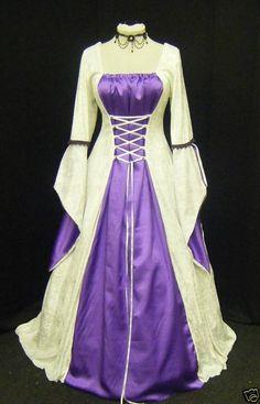 Medieval Gothic Renaissance wedding dress handfasting
