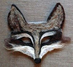 Wolf Mask hand felted halloween /festival /party /fairytale