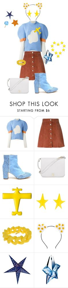 """Sunshiny Day"" by glamourgrammy ❤ liked on Polyvore featuring J.W. Anderson, Theory, Polly Plume, Furla, Conran, Alexis Bittar, Marc by Marc Jacobs, Forever 21 and Thierry Mugler"