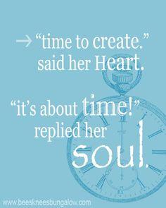 #time #create #wordstoliveby #mjangel
