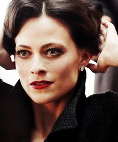 25 Days of Sherlock: Day 7 - Least Favorite Character- Irene Adler. The Woman - I think she is all wrong...just all wrong. Mostly I hate that Sherlock likes her. But I don't like how the show made her into a dominatrix. She takes her clothes off to make an impression :\