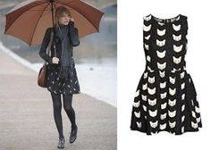 How cute is this cat print dress from ASOS? Perfect for a rainy day!