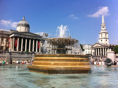 Trafalgar Square in City of Westminster, Greater London