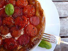 LA COCINA DE BABEL: Tatin de tomates caramelizados y queso de cabra.