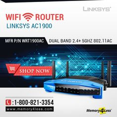 Grab #Holiday #Discount @ #Memory4less!!  Shop #Linksys #AC1900 #DualBand Smart #WiFi #Wireless #Router at 25% OFF... (Mfr P/N WRT1900AC)  Let's check it out and Place your order now!  http://bit.ly/1zb3TFN