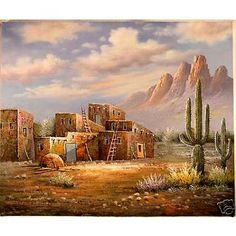 Ghost Town - Hand Painted Oil Panting